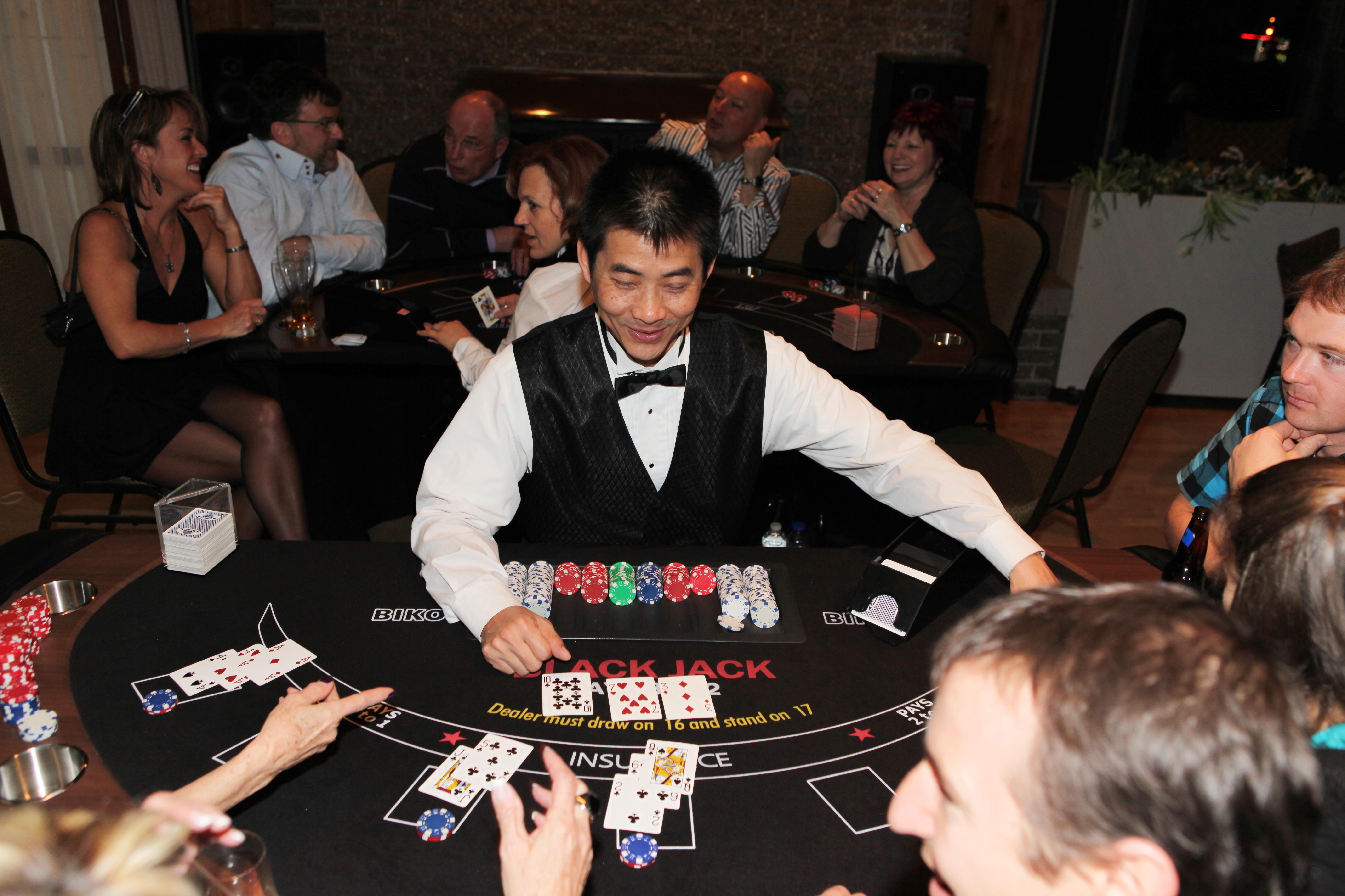 Événement corporatif soirées casino